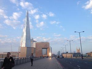 The Shard, taken while running across London Bridge