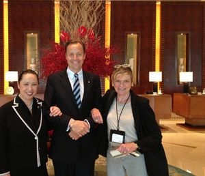 Judy Leung, left, and Urs Bremer