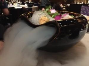 A foaming dish at Sra Bua