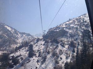 Soaring up to Shymbulak Ski Resort