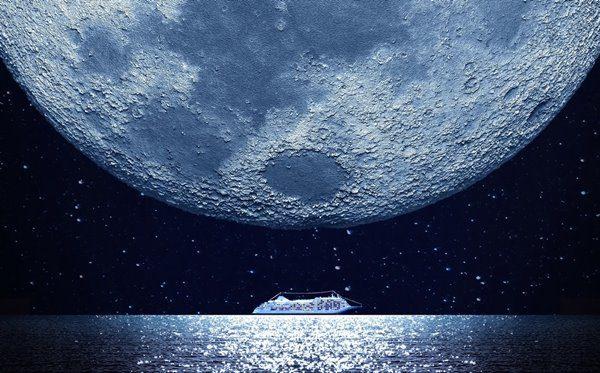 Silver Monn luxury cruise ship by Silversea