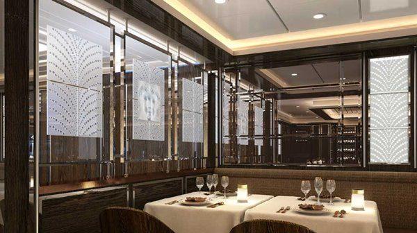 La Dame restaurant - Silver Moon luxury cruise ship by Silversea