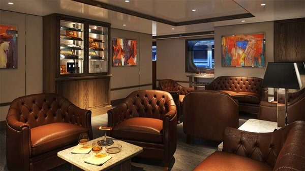 Connoisseur Corner at Silver Moon luxury cruise ship by Silversea