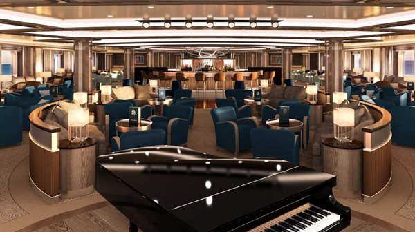 Dolce Vita Lounge at Silver Moon luxury cruise ship by Silversea