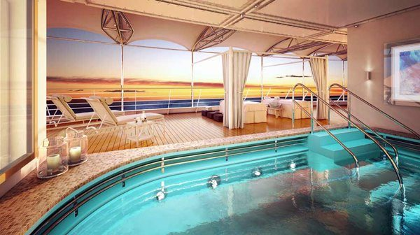 Open Deck Spa at Silver Moon luxury cruise ship by Silversea