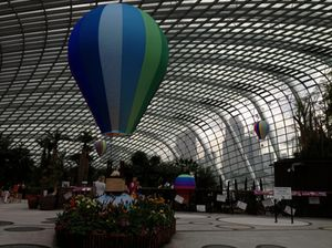 Inside the Flower Dome...