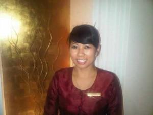 Balinese spa manager Fitriya