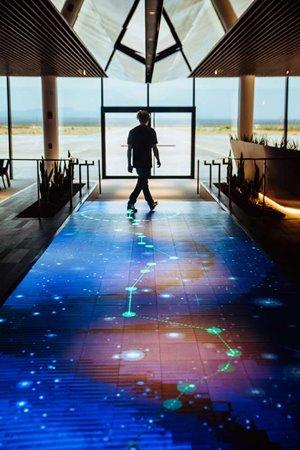 Virgin Galactic's Spaceport America interactive walkway