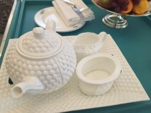 Tiffany teaset in the Tiffany Suite