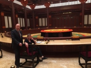 This is the chair that Xi sat in at the 2014 APEC meeting