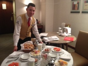 .. or room service's Swiss Breakfast, at four a.m.