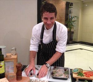 Julien xxx prepares canapés