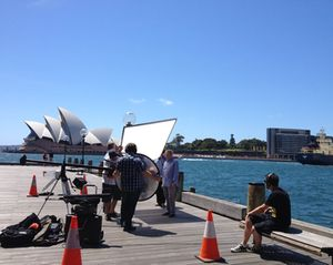 Shooting with the Opera House as backdrop