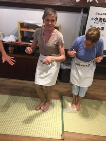 Dancing on udon dough
