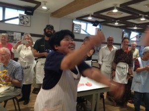 Mama-san teaches - and leads the dancing