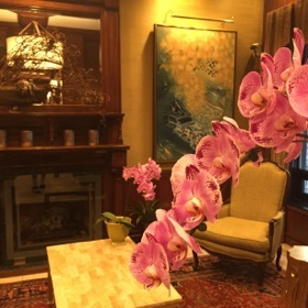 .. walk past orchids on the way to the door