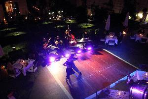 Tango on the terrace, at night, in Buenos Aires