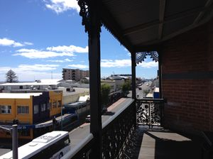 View from the original cast-iron balcony