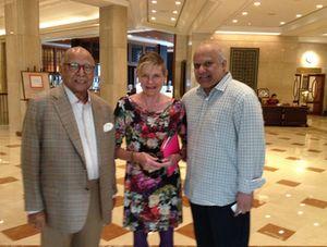 Padma Bhushan Capt CP Krishnan Nair, left, and younger son Dinesh Nair