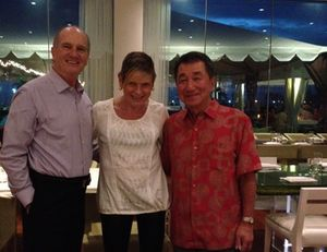 Morimoto diners Gerald Gannon, left, and Tetsua Koyabashi