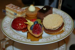 Macaroon among The Ritz London's tea offering