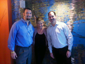 Welcome to Indigo San Diego, from Pat McTigue, left, and Chris Jones