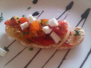 Home-grown tomato bruschetta at the Kempinski Estepona luxury resort in Spain