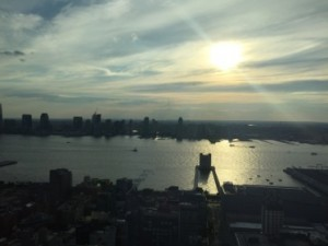 Sunset across the Hudson from suite 4405