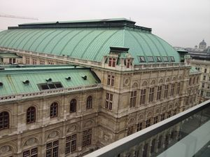 .. and looking out at Staatsoper