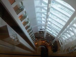 View down Hilton Baku's atrium