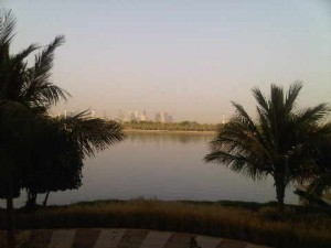 Creek viewed from room 1208, Park Hyatt hotel, Dubai