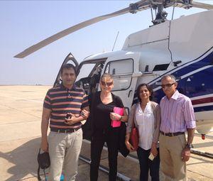 Ready to go - from left, Pamrod Ranjan and Naina and Arun Achappa