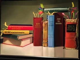 A painting of books...
