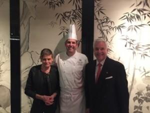 Chef David Garcelon and Michael Hoffmann, in La Chine