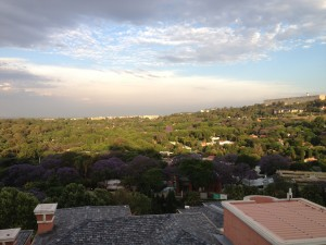 View from the Stefanie Powers Suite, The Westcliff luxury hotel, Johannesburg