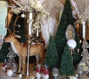 Christmas scene in the hotel lobby