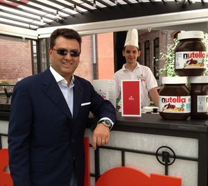 Alessandro Cabella and his Nutella stand