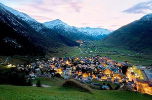 Andermatt is nearly 15,000 feet above sea level