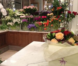 .. flowers everywhere, in the hotel's Moyse Stephens shop