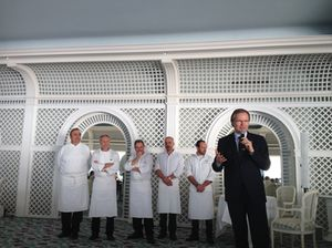 Frank Marrenbach and chefs