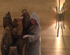Is it robed reality or another wood sculpture?