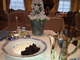 My table in the lovely breakfast room