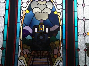 Stained glass at Dunedin rail station