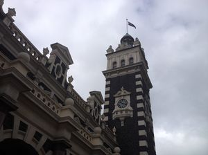Dunedin railway station outside…