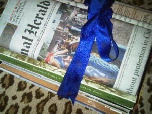 At Faluknuma Palace your reading material - even a coveted International Herald Tribune - is also tied in blue ribbon