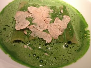 .. and a simple parsley-sauced pasta, with white truffle