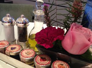 Understated luxury on the breakfast table…